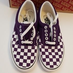 Vans Purple Checkerboard Up Shoes